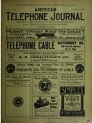 Тот самый выпуск The American Telephone Journal